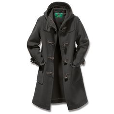 Cold weather staple - Ladies' Elysian Duffle Coat Charcoal