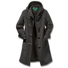 Cold weather staple - Ladies' Elysian Duffle Coat Charcoal
