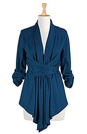 Wool blend button-tabbed jacket Get Super Saving discounts at eShakti with Coupon and Promo Codes.