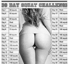 30 day Victoria Secret butt challenge... OMGzzzzz I'm totally doing this! I want a big fat booty by the summer