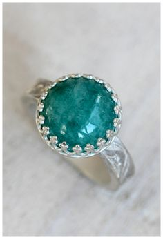 Large cocktail ring. Sterling silver and blue feldspar large statement ring from Praxis Jewelry.