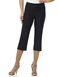 Women's Casual Pants - Rekucci Women's Ease In To Comfort Fit Capri with Button Detail at Women's Clothing store: Night Outfits, Casual Outfits, Women's Casual, Casual Pants, Spring Outfits, Petite Jeans, Women's One Piece Swimsuits, Pants For Women, Clothes For Women