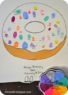 Project Nursery - guest book finger print donut