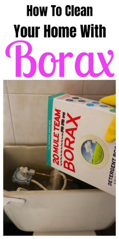 Tips and tricks for cleaning your home with Borax. #cleaninghacks #householdhacks #cleaningtips #householdtips Borax Cleaning, Household Cleaning Tips, Bathroom Cleaning, House Cleaning Tips, Cleaning Hacks, Oven Cleaning, Household Cleaners, Cleaning Recipes, Homemade Cleaning Products