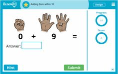 """What do you think of this kindergarten math lesson, """"Adding Zero within Ten?"""" Check out the other great math lessons on iknowit.com!"""