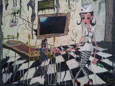"""Nurse"" acrylic on canvas by Shaun Lambert"