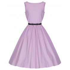 'Audrey' Chic 50's Style Swing Dress In Cotton Candy Pink