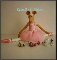 Ratita bailarina Tooth Mouse, Cool Fabric, Mice, San Antonio, Finland, Projects To Try, Fabrics, Dolls, Animal