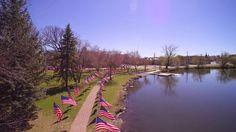 Veterans Walk of Flags - Yuneec Q500 4K
