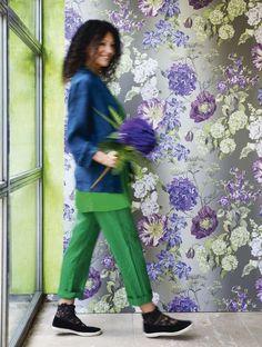 Déco fête chez la designer Tricia Guild : déco table, couleurs...