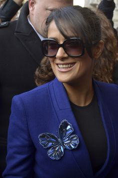 Fotos street style Paris Fashion Week: Salma Hayek
