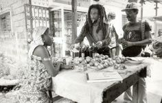 Bob buying some food at a local marketplace in Gabon. #TodayInBobsLife