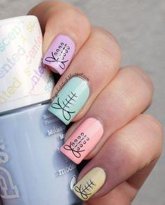 Models Own Fruity Pastel Skittles by BornPrettyNails Nail Art Gallery nailar Love Nails, Pretty Nails, Acrylic Nail Designs, Nail Art Designs, Corset Nails, Uñas Fashion, Easter Nail Art, Pastel Nail Polish, Creative Nails