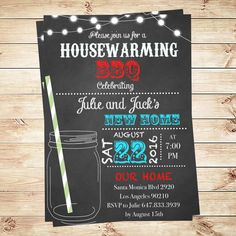 Printable housewarming new home first home house for How to organize a housewarming party
