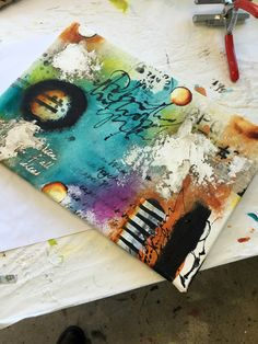 Gorgeous canvas by Donna Downey! http://donnadowney.typepad.com/simply_me/2014/10/metamorphosis-2-day-experience.html