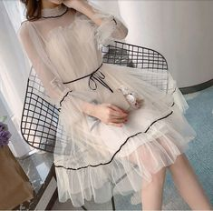 2019 Fairy Gauze Dress – YihFoo Use coupon cod Kawaii Fashion, Cute Fashion, Pretty Dresses, Beautiful Dresses, Awesome Dresses, Dress Outfits, Fashion Dresses, Maxi Dresses, Summer Dresses