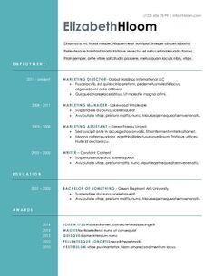 Blue Side - Free Resume Template by Hloom.com