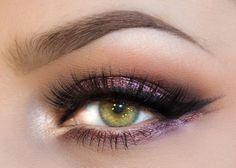 Glamorous look by Lindsay Lewis using Makeup Geek's Enchanted pigment.