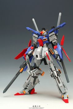 Modeled by Visualpollution     Now this made my day. A extra fit version of ZZ Gundam. I really love this version instead of the original f...