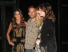 Paul Walker and Victoria's Secret angels Izabel Goulart, Erin Heatherton and Thairine Garcia, pose for photos at the backstage before the post parade party for the brand Colcci during the Sao Paulo Fashion Week Summer 2013/2014 in Sao Paulo.