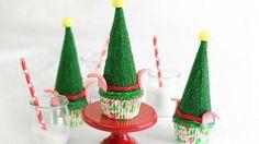 Elf Hat Cupcakes #bettycrocker