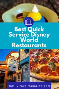When dining at Walt Disney World, you'll have lots of restaurant options. Quick service restaurants can be a great flexible option, because you won't need a reservation and can go at any time. You can also use the Disney Dining Plan at Quick Service restaurants. Here are the best quick service Disney restaurants in our experience. Epcot Restaurants, Disney World Restaurants, Disney World Parks, Walt Disney World Vacations, Magic Kingdom Quick Service, Animal Kingdom Restaurants, Disney Dining Plan, Food, Essen