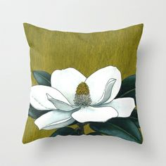 Southern Magnolia Throw Pillow by Kate Halpin  - $20.00