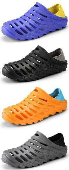 US$15.64 Men Soft Hollow Out Slip Resistant Outdoor Casual Sandals#shoes