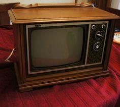 Salesman sample miniature 1960s RCA console television.