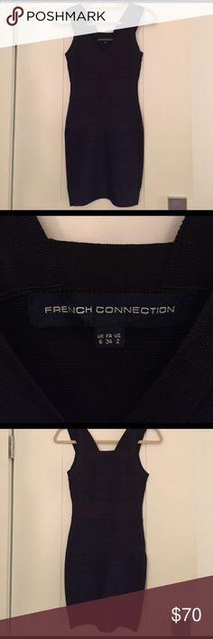 French Connection Black Bandage Dress tight black dress French Connection Dresses Mini