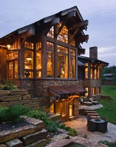 I love wooden and stone houses so much.