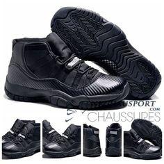 Nike Air Jordan 11 | Classique Chaussure De Basket Homme Cuir Noir-10