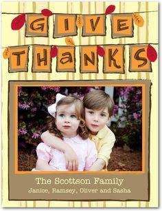 Studio basics: thanksgiving photo cards, Thanksgiving Bunting $1.39