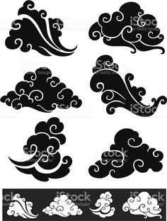 Vintage Clouds Chinese Style royalty-free vintage clouds chinese style stock vector art & more images of abstract Japan Tattoo, Japanese Patterns, Japanese Art, Japanese Stamp, Japanese Symbol, Japanese Sleeve, Japanese Cloud Tattoo, Tattoo Japonais, Tf2 Meme