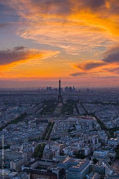 Beautiful Sunset moment in the City of Lights