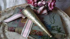 New to NostalgiqueBoutique on Etsy: Antique Silver Plated Wall Pocket Vase or Automobile Bud Vase Epergne Vase (26.00 GBP)
