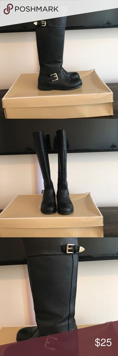 Michael Kors boots Black Michael Kors riding boots in great condition. Gold accents, minimal wear, never worn by an actual child. Michael Kors Shoes