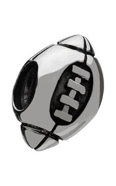 Think of Super Bowl sunday with this sports minded Chamilia football bead. Create your own look and style as you add and change beads to capture your personality. Ideal gift for someone special who has yet to experience the Chamilia adventure! Magic Charms, Jewelry Chest, Ring Watch, Pandora Bracelet Charms, Silver Charms, Jewelry Stores, Charmed, Beads, Gd