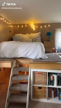 Small Room Design Bedroom, Cute Bedroom Decor, Girl Bedroom Designs, Room Ideas Bedroom, Home Room Design, Bedroom Ideas On A Budget, Bedroom Ideas For Small Rooms For Teens, Diy Storage Ideas For Small Bedrooms, Bad Room Ideas