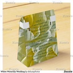 White Waterlily Wedding Favor Box