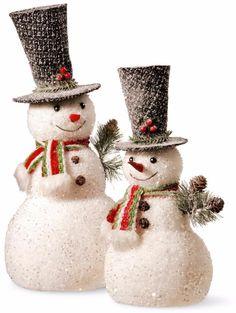 Handcrafted Christmas Snowman Figurines Sift locking Holiday Decor (Set of 2) #Snowman #Christmas #Handcrafted #SnowmanFigure #Figurines #SiftLocking #Holiday #Decor #ChristmasDecor #Holiday #Seasonal #HomeDecor #HolidayDecor