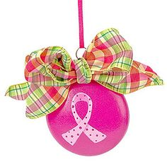 Cancer Awareness Craft Patterns | ... Crafts: PROJECTS » BREAST CANCER AWARENESS » PINK RIBBON ORNAMENT