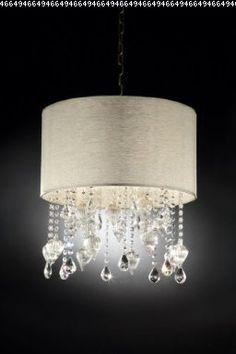 Drape Shell Crystal Ceiling Chandelier Lamp