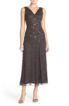 Pisarro Nights Sleeveless Embellished Mesh Gown available at #Nordstrom
