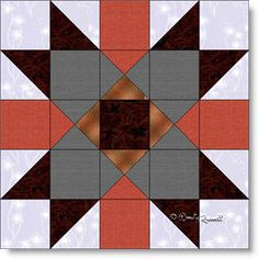 Providence quilt block pattern - a five patch featuring half square and quarter square triangles