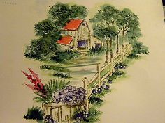 OLD-BARN, flowers, animals,pathway, barrel , greenery all other items used in examples sold separately. Made by Art Impressions. You can purchase these  in  my ebay store. Click on picture & it will take you into this listing in my Ebay Store. .  My ebay Store is:  Pat's Rubber Stamps & Scrapbooks or call me 423-357-4334 with order. We take PayPal. You get free shipping with $30.00 or more on phone orders.