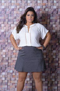 Truques para parecer mais magra - Toda Atual Plus Size Fashion Blog, Plus Size Fashion For Women, Xl Fashion, Curvy Women Fashion, Fashion Outfits, Womens Fashion, Fashion Watches, Plus Size Casual, Plus Size Outfits