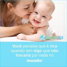 Filhos... A maior riqueza do mundo! #bebê123 #diáriodemãe