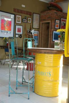 """Canteen Cafe - Canggu Canteen Cafe Canggu is a local run cafe in Canggu with a feel good """"Vibe"""", Find heaps of old surf memorabilia, great coffee, fresh good food and juices, and perhaps even a pro surfer or two. Don't blink or you will scoot straight past it. Definitely put on your list if you in the area. Jl. Batu Bolong No.34, Open 7am – 5pm most days. Phone +62 878-6228-1755."""