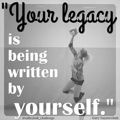 Your legacy is being written by yourself. Volleyball Images, Softball Senior Pictures, Volleyball Outfits, Volleyball Shirts, Volleyball Drills, Volleyball Quotes, Coaching Volleyball, Girls Softball, Senior Guys